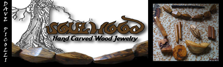 carved wood jewelry